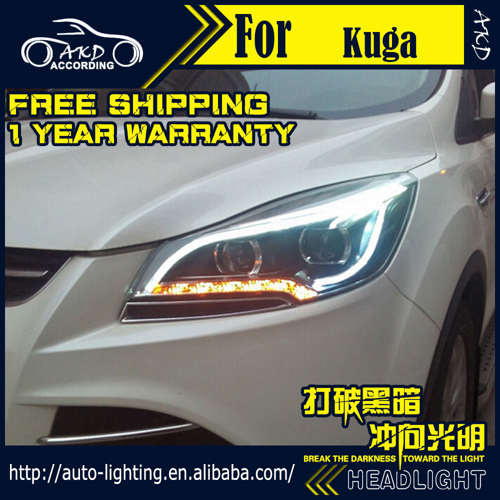Head-Lamp Ford Angel Xenon-Beam Escape Kuga Led-Headlight DRL H7-d2h/Hid/Option/.. Car-Styling