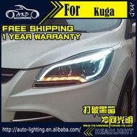 AKD Car Styling Head Lamp for Ford Kuga Escape Headlights 2014 2016 LED Headlight DRL H7 D2H Hid Option Angel Eye Bi Xenon Beam