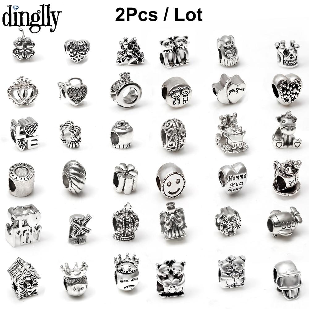 2Pcs Color Beaded Fit Original Brands Charms Bracelet Snake Bracelets & Bangles For Women Necklace Jewelry Gifts(China)