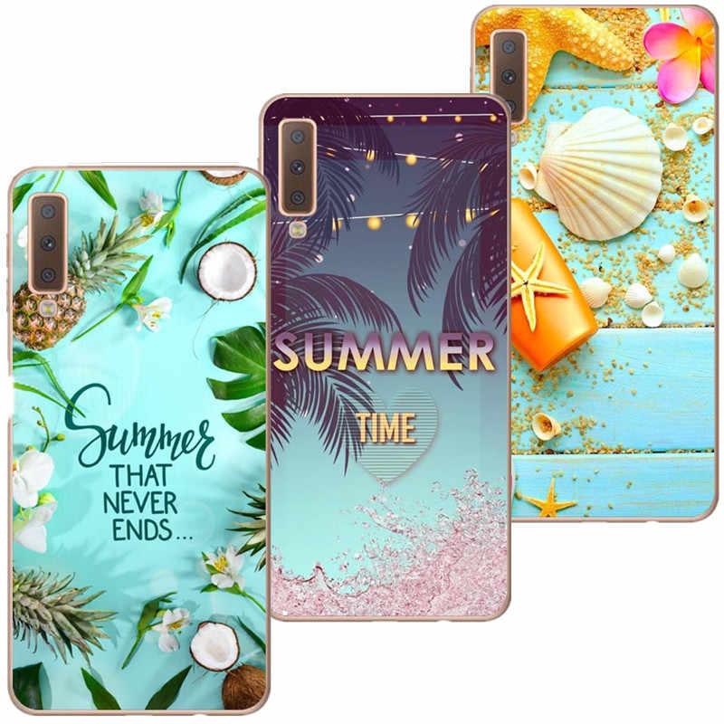 Mùa hè Silicone Ốp Lưng Điện Thoại Dành Cho Samsung Galaxy A7 2018 A750 A10 A30 A50 A6 A8 Plus 2018 M10 M20 a3 A5 A7 2017 J5 J7 2016