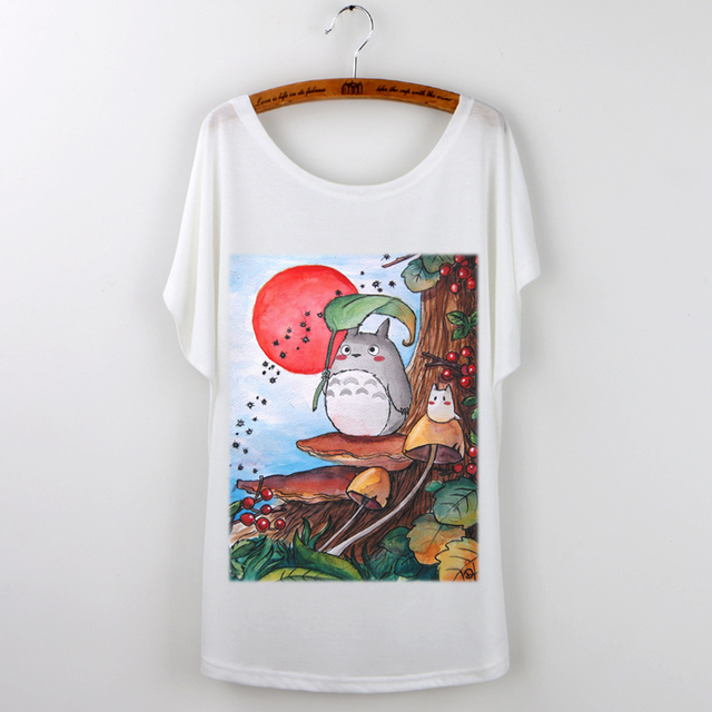 Studio Ghibli My Neighbor Totoro  – Female Butterfly Sleeve Totoro T shirt