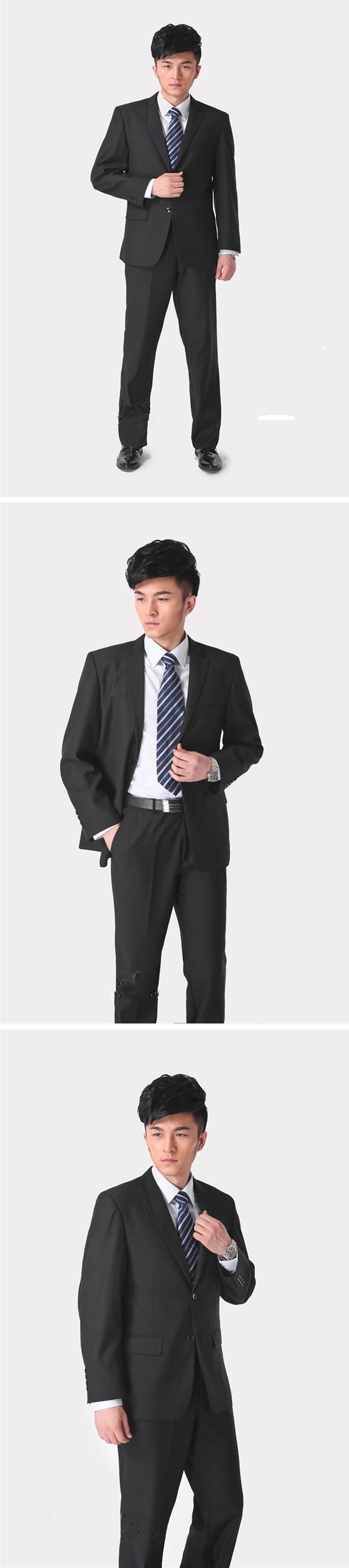 Куртка + брюки + галстук) костюм мужской тонкий формальный жених ... a2ba86f0fe5