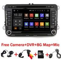 HD четырехъядерный 1024*600 сенсорный экран автомобильный радиоприемник VW android 7,1 dvd gps Wifi 3g Bluetooth radio RDS USB IPOD Бесплатная камера + Автомобильный вид