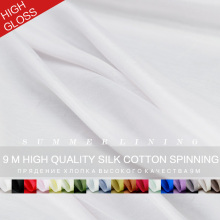 9momme high quality silk cotton summer clothing lining DIY garment material 20 colors