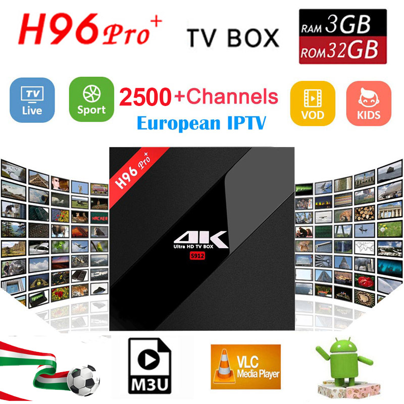 Sweden iptv Box H96 Pro 3GB/32GB S912 Android 7.1 TV BOX HD Smart tv box+1 Year 4700+Europe Arabic Nordic IPTV box free shipping best hd 1 year arabic europe french iptv italy belgium 1300 live channels av cable for tv box android 7 1 smart tv box s912 box