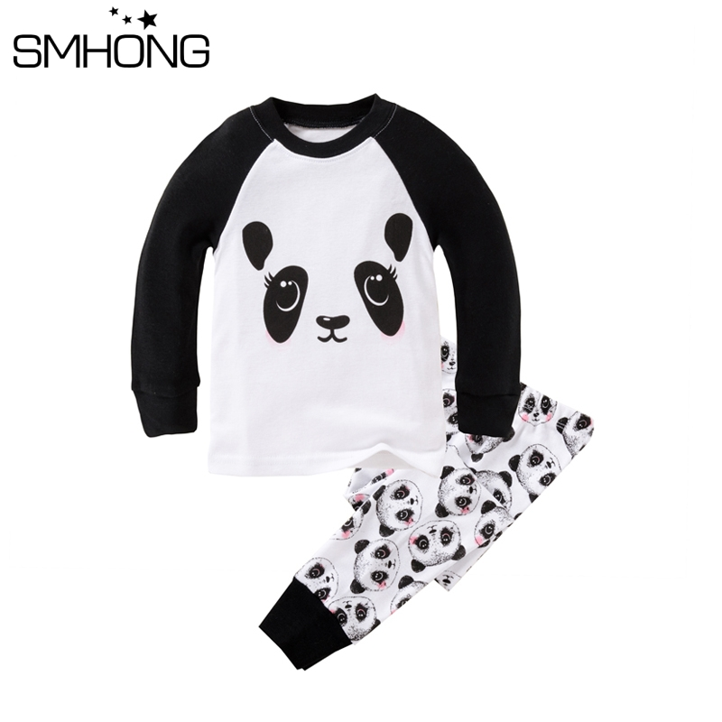 New Boys Pajamas Kids Panda Pajama 100 Cotton Rib Sleepwear Pajamas Sets  Baby Pyjamas Pijamas Infantil Boys Clothing Sets Night 051ae6413f0d