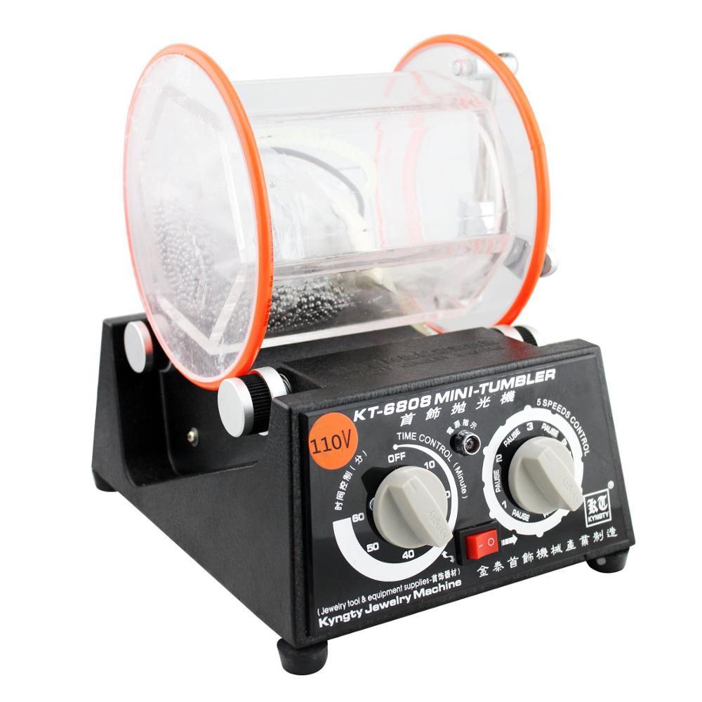 5 Kg Capacity OrangeA Jewelry Polisher Tumbler 5Kg Capacity Mini Rotary Tumbler Machine with Timer Jewelry Polisher Finisher for Jewelry Stone
