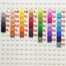 3000 pcs/lot  Educational Toy Plastic Small Building Blocks Brick Accessory 1X1 Plate 45 Colors Pixel Art DIY Toys for Children недорого
