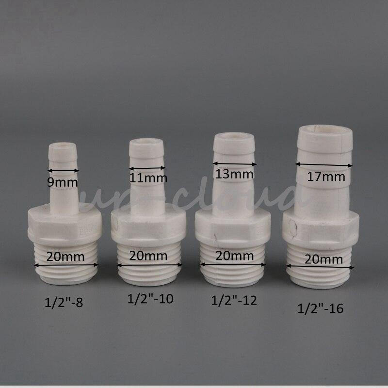 """Pulverizador de plástico Manguera Cola 1//2/"""" BSP Rosca macho a la conexión de la manguera de 1//2/"""" 13mm"""