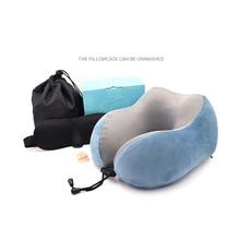 Memory Foam U Type Pillow Holds U Form Pillow Logo Custom Aircraft Magnetic Cloth Travel Pillow Nap Cervical Neck Pillow недорого