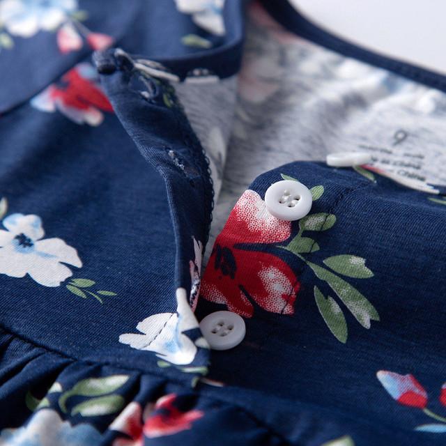 Loose Cotton Romper Dresses for kids