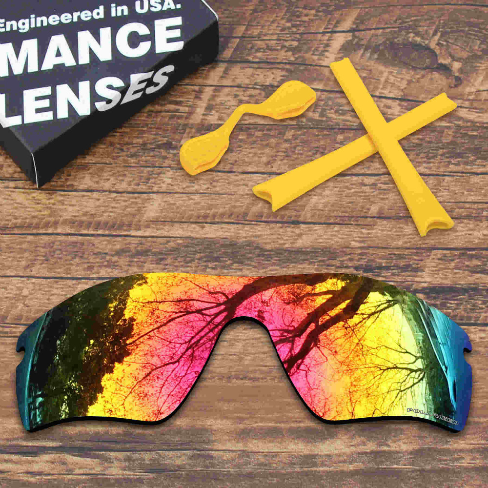 ff25a3457c ToughAsNails Resist Seawater Corrosion Polarized Replacement Lens Yellow  Rubber Kit for Oakley Radar Path Multiple Options-in Accessories from  Apparel ...