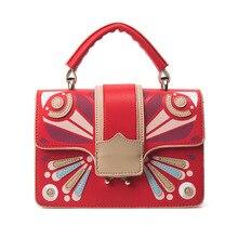 Luxus marke designer hit nähte kleine quadratische tasche neue pu handtasche weibliche Europäische und Amerikanische mode schulter Messenge