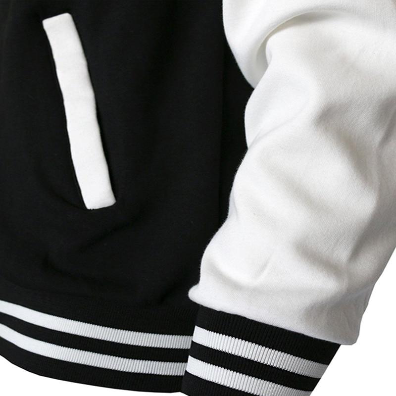 Casaco gótico masculino, jaqueta de beisebol casual