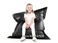 Black waterproof and dirt  oil resistant bean bag chair, outdoor garden beanbag sofa seat