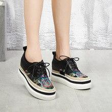 Женская обувь из натуральной кожи на высоком каблуке, обувь на танкетке, обувь на платформе, кроссовки, WA3533