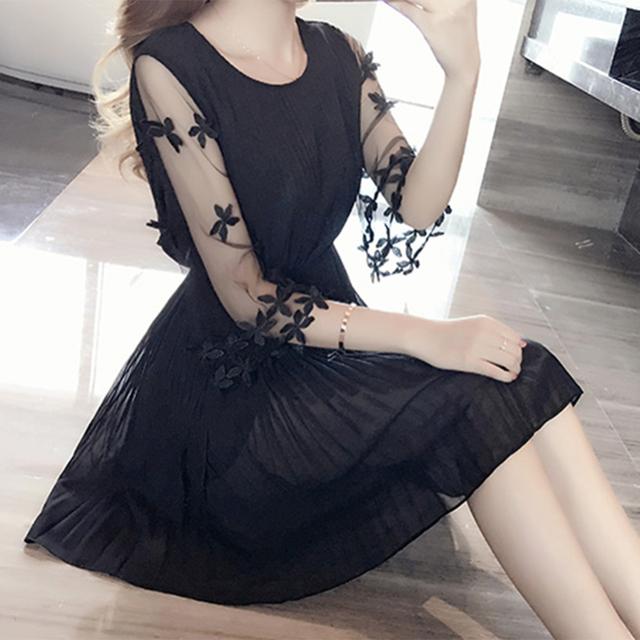 Summer Short Sleeve Slim New Women Korean Elegant Dress