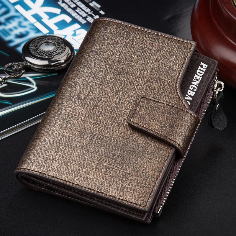 Fashion Mens wallets PU Multi-function Business Leather Purse Big Capacity Card Holder Purse For Documents men wallets