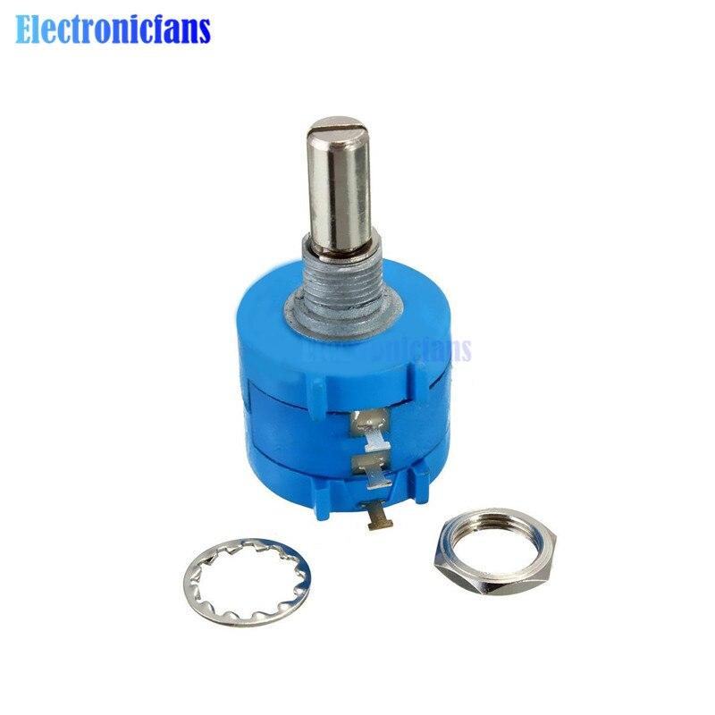 Uxcell a11121400ux0252 2.2K Ohm Resistance 2W Rotary Wirewound Potentiometer with Knob