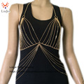 BC-498 Sex Chain Bra Body necklace, New Body jewelry For Female From Linya Jewelry