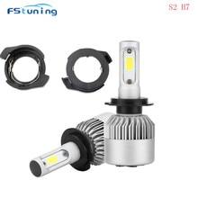 FStuning S2 светодиодный hedlight лампы H7 с H7 держатель лампы адаптер лампа держатели для Ford KUGA для VW passat B6 светодиодный лампы
