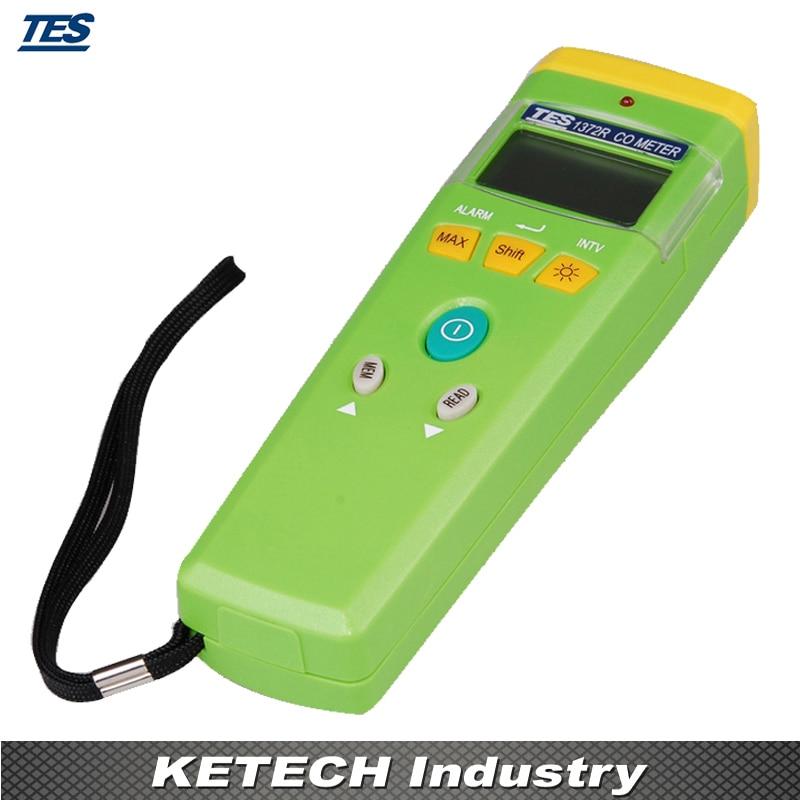 Цифровой co/счетчик Угарный газ метр/Портативный детектор угарного газа 0 999 ppm TES 1372R