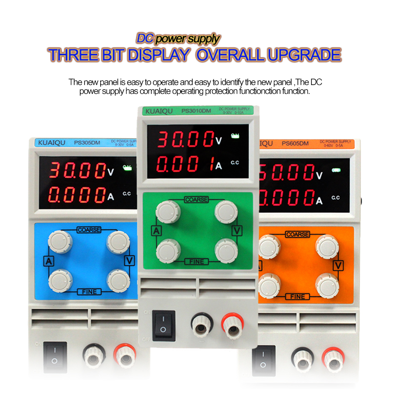 Highly efficient Double display voltage, current,Double potentiometer low noise Digital adjustable Colourful DC Power Supply set cps 6011 60v 11a digital adjustable dc power supply laboratory power supply cps6011