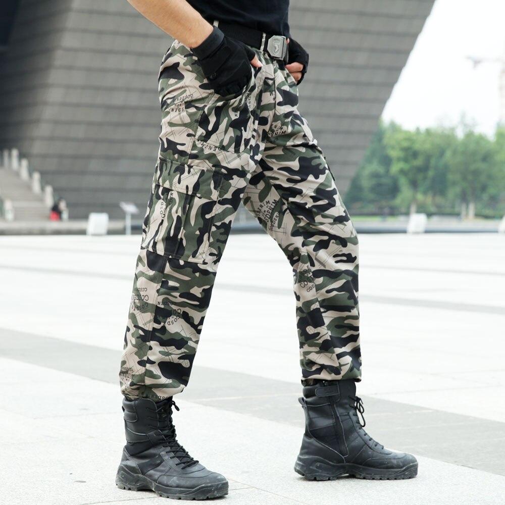116c9957867f42 All'aperto degli uomini Pantaloni Cargo Tattici Commando di Combattimento  Dell'esercito Militare Tute e Salopette Camouflage Pantaloni Arrampicata  Pantaloni ...