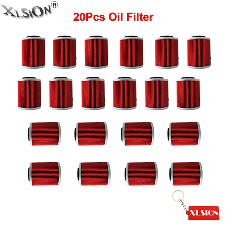 XLSION 20Pcs Oil Filters For CAN-AM OUTLANDER MAX 400 500 650 800 800R 1000R MAX 400 650 800 SL1000 DS650 ETV1000