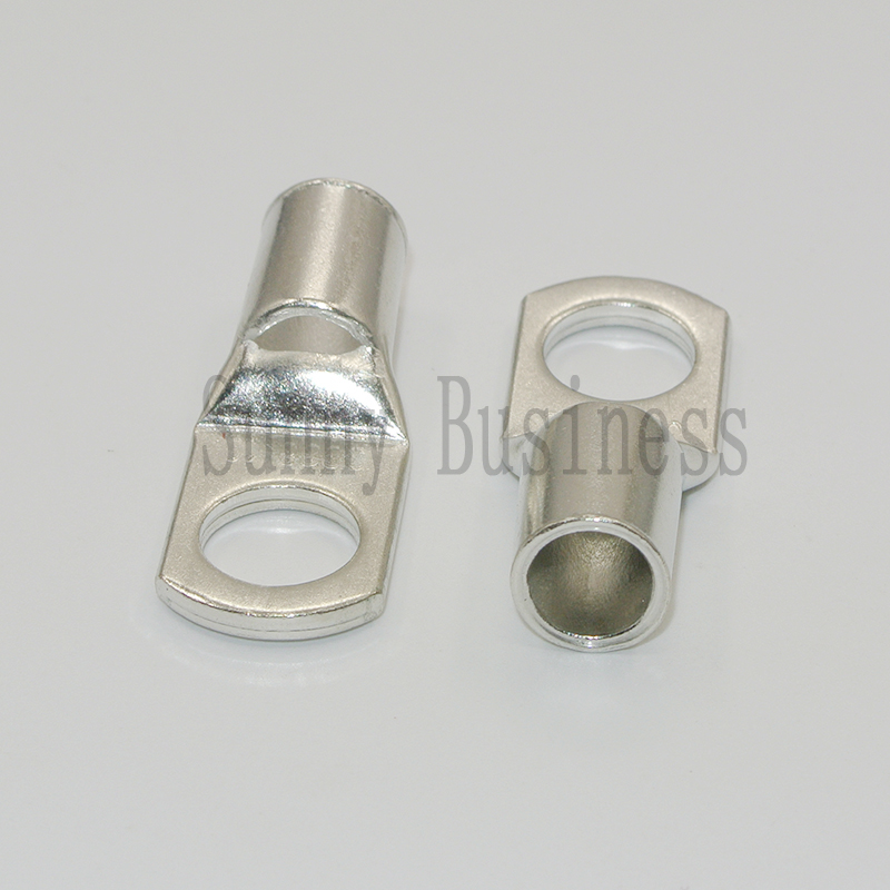 1 GAUGE AWG X 3//8 in COPPER LUG BATTERY CABLE CONNECTOR TERMINAL 10