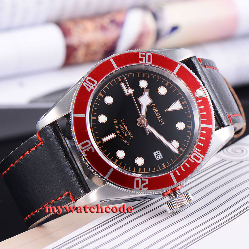 41mm corgeut black dial Sapphire Glass miyota 8215 Automatic diving watch C51 polisehd 41mm corgeut black dial sapphire glass miyota automatic mens watch c102