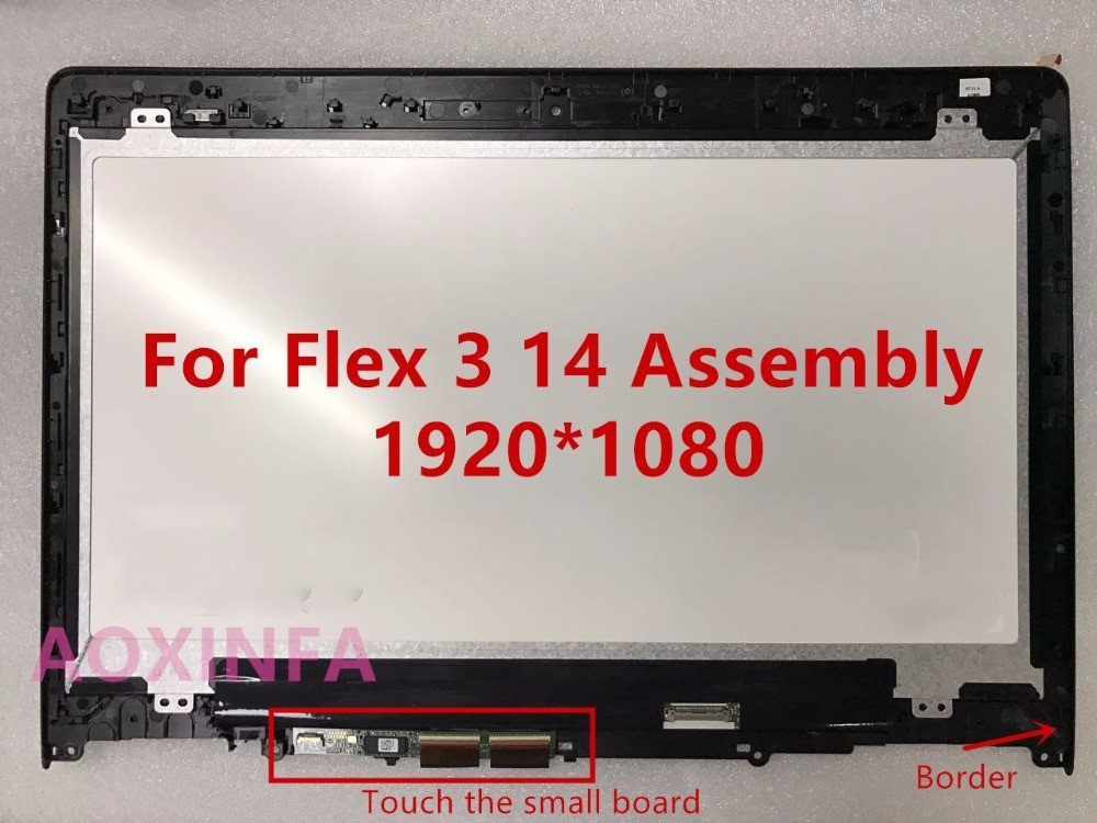 Touch LCD Assembly Screen +Digitizer+ Bezel For Lenovo Yoga 500-14 500-14IBD 80N4 1080p ibd гелевый лак бульвар сансет 56787 ibd just gel polish sunset strip 19400 124 14 мл