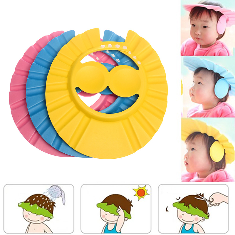 100% brand-new and high quality Adjustable Baby Kids Children Bathing Shower Shampoo Cap Eye Ear Protection