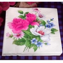 Древесной virgin кафе свежий ресторан салфетки ткани партии розовый бумаги цветок
