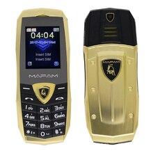 Lambor автомобильный телефон из металла Для тела Мини Симпатичный телефон Бесплатная кожаный чехол P234
