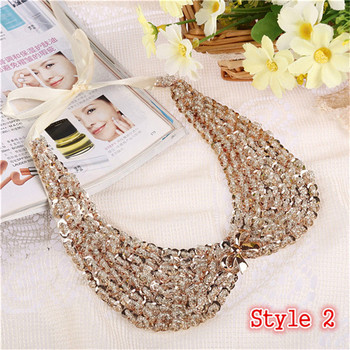 Fashion Women's Sequined Choker Necklaces Jewelry Necklaces Women Jewelry Metal Color: Style 2