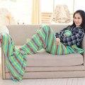 Soft Mermaid Tail Sofa plush Blanket Lap Throw Bed Wrap Fin Warm Cocoon Costume Girls Kids Children Sleeping Bag