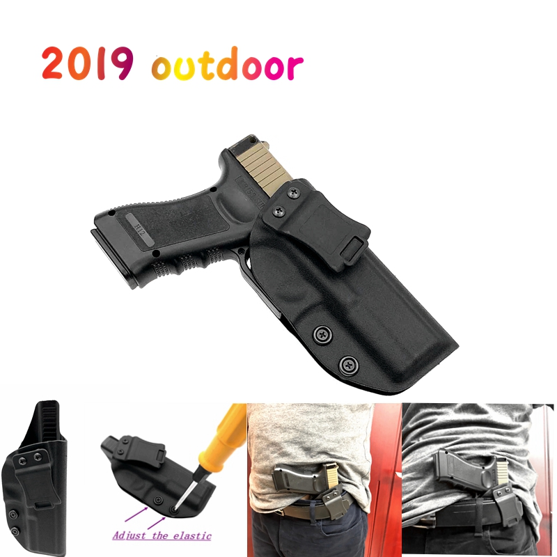 Hunting Glock Holster Concealed Carry Kydex Inside the Waistband Holster KYDEX for GlockG17 G22 G31 Right Hand Use