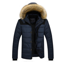 2017 New Winter Jacket Men Warm Hooded Coat Casual Fur Collar Parkas Men Thicken Outwear Cotton-Padded Jacket Male Clothing 5XL