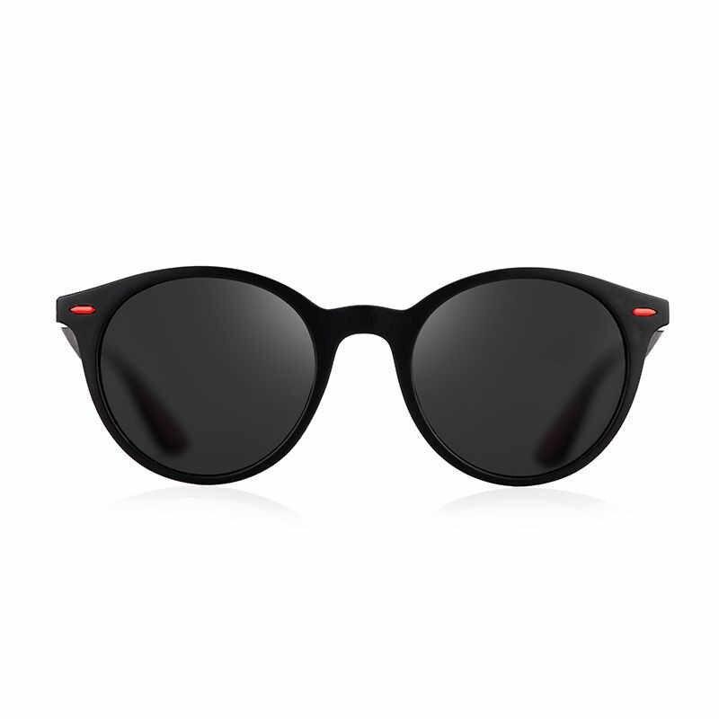 Классические поляризованные солнцезащитные очки, мужские винтажные Роскошные брендовые Круглые Солнцезащитные очки для женщин и мужчин, очки для вождения с УФ-защитой