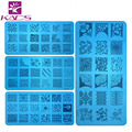 HOTSALE 8PCS/LOT CA Series 120*60MM Size Stamp Stamping Image Konad Plate Print Nail Art Template DIY for nail stamping plates