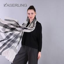 Kaserling invierno oversize mujer Bufandas Plaid ocio moda caliente gris  oscuro señora wraps Cachemira bufanda pashmina chal de . 64a0481ba95