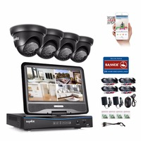 SANNCE 4CH Full 720P HD CCTV System 10 1 LCD Monitor DVR Recorder 1 0MP 720P