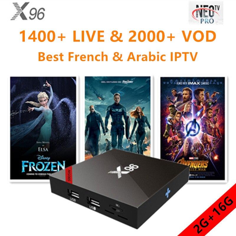 X96 Android tv box 7.1.2 pour smart tv avec neo iptv 1 année meilleur français arabe belgium european qhdtv m3u