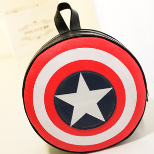 2017 New Fashion Women and Men Backpack Captain America Shield Backpack Unisex School Bags Backpacks for Teenage Girls and Boys 2017 new korean style tuguan brand unisex men 15 6 laptop school backpacks women fashion school bags for teenager boys and girls
