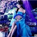 Clásico de navidad trajes de baile chino tradicional ventilador de las mujeres hanfu nacional para niñas antiguas dress mujer vestidos de los niños