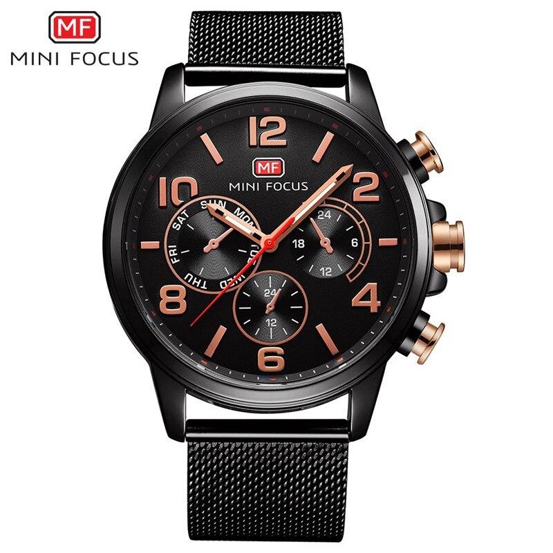2017 New Minifocus Fashion Quartz Wrist Watch Luxury Business Men Watches Top Brand Male Clock Montre Homme Relogio Masculino