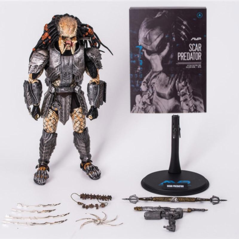 32cm HC AVP Doll Scar Predator MMS190 Action Figures Toy