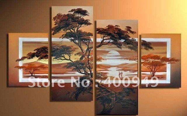 High Quality Modern Landscape Oil Painting on Canvas art group oil paintings home decoration DY-002 picture on wall