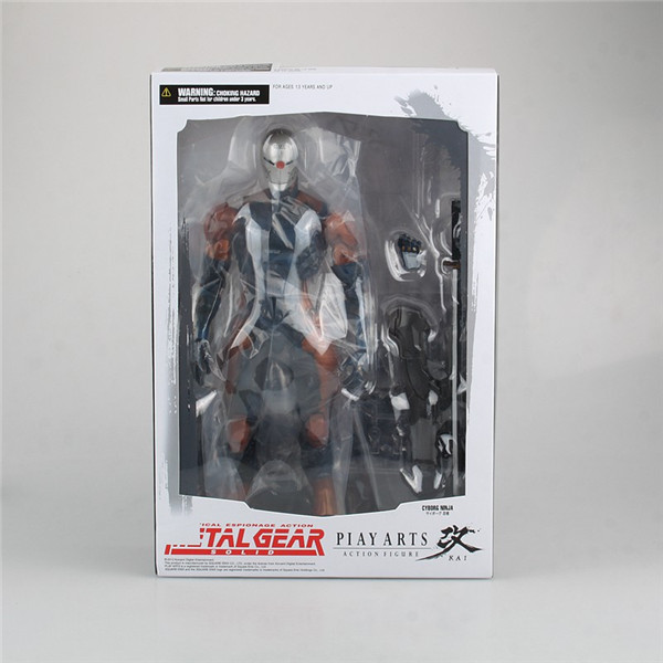 Metal Gear Solid Play Arts Kai Solidus Snake Gray Fox Cyborg Ninja 26cm PVC Action Figure Doll Toy Playarts Kai metal gear solid v the phantom pain play arts flaming man action figure super hero
